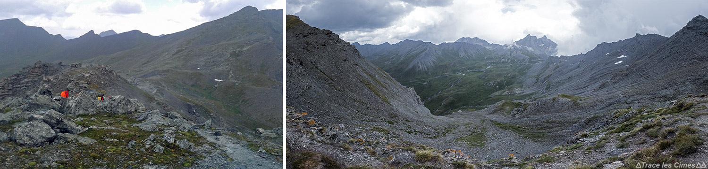 Le Col de Saint-Véran, vue sur le Col Agnel, Queyras (Hautes-Alpes)