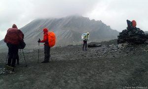 Le Col Vieux et La Taillante en arrière-plan, Queyras (Hautes-Alpes) - Trek sous la pluie