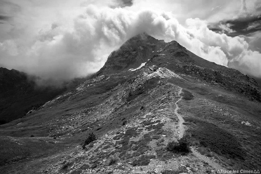 La Tête de Pelvas depuis La Crête de Peyra Plata - Queyras, Hautes-Alpes