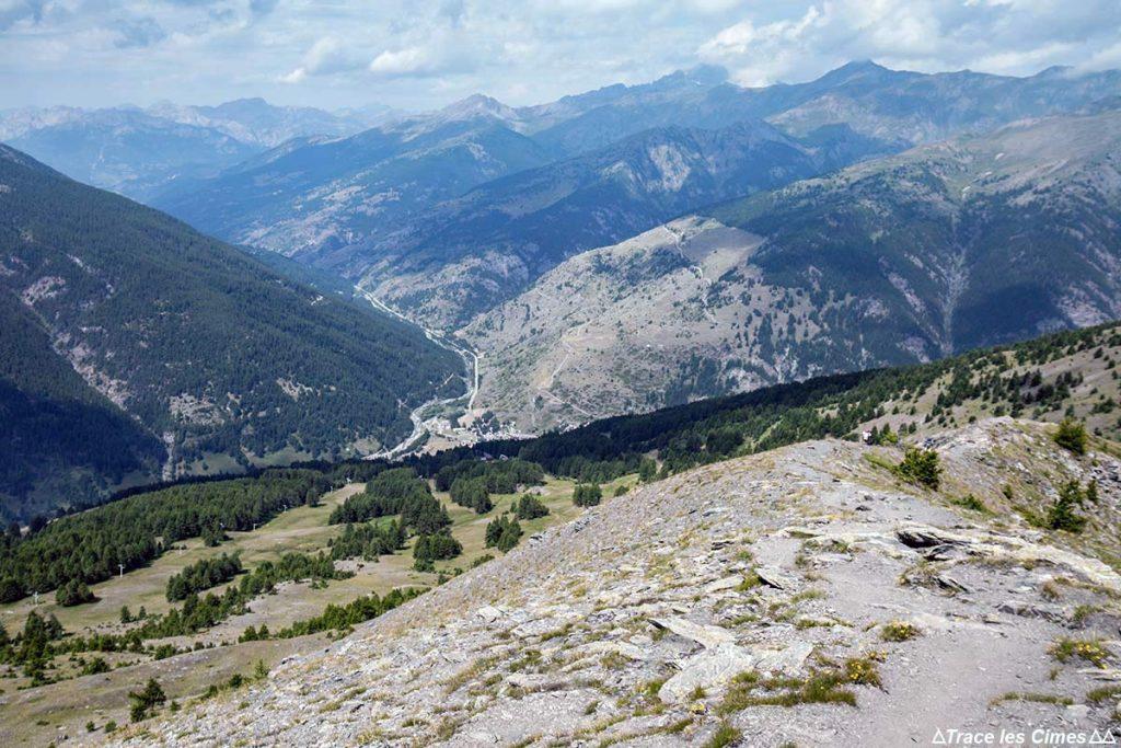 Vue sur Abriès depuis la Crête de Gilly - Queyras, Hautes-Alpes