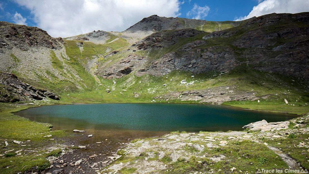 Le Petit Laus, Lacs du Malrif (lac de montagne) - Tour du Queyras GR 58, Hautes-Alpes