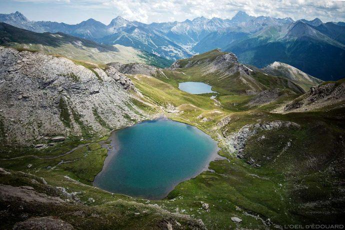 Les Lacs du Malrif : le Petit Laus et le Lac Mézan (lac de montagne) - Tour du Queyras GR 58, Hautes-Alpes