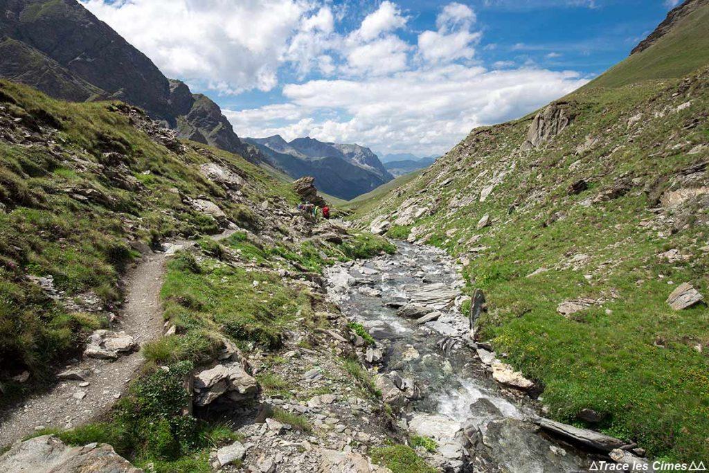 Le torrent des Fonts de Cervières - Tour du Queyras GR 58, Hautes-Alpes