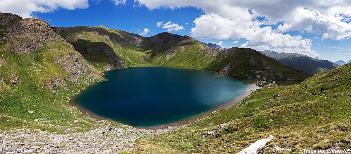 Le Grand Laus, Lacs du Malrif (lac de montagne) - Tour du Queyras GR 58, Hautes-Alpes