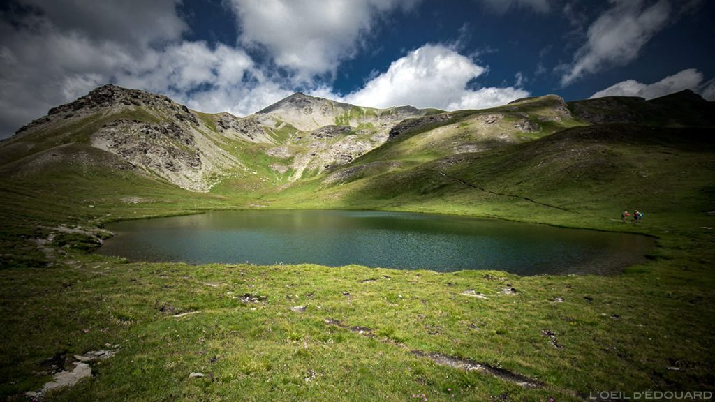 Le Lac Mézan, Lacs du Malrif (lac de montagne) - Tour du Queyras GR 58, Hautes-Alpes