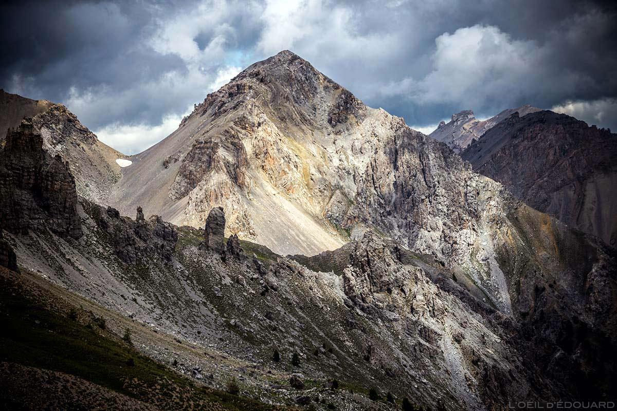 Le Pic de Jaillon, vu depuis le Col de Furfande - Queyras, Hautes-Alpes
