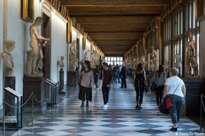 Couloir corridor du Musée de la Galerie des Offices de Florence