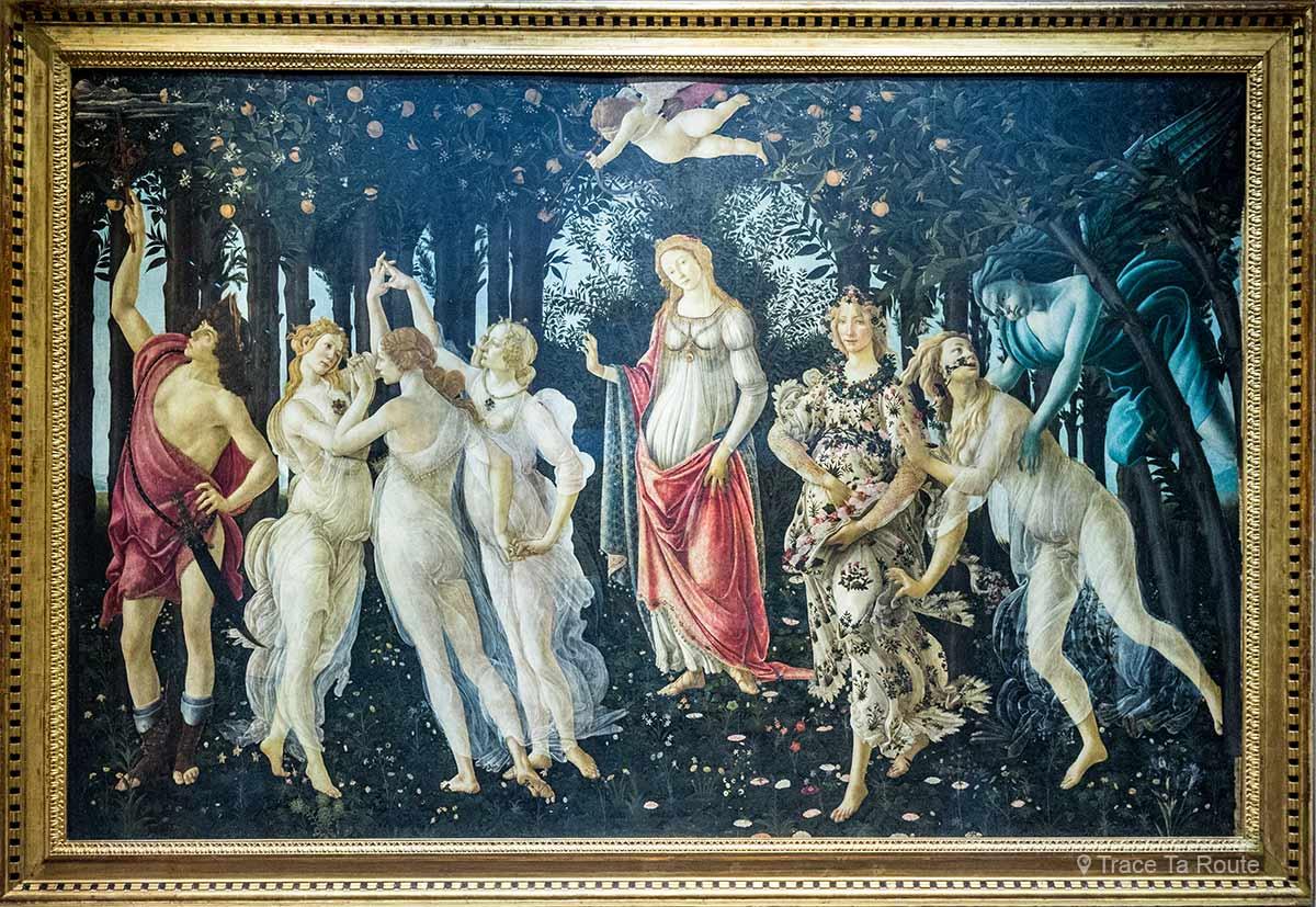 Le Printemps (1478-1482) Alessandro BOTTICELLI - Musée de la Galerie des Offices de Florence (Galleria degli Uffizi di Firenze)