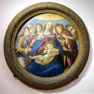 La Vierge à la grenade (vers 1487) Alessandro BOTTICELLI - Musée de la Galerie des Offices de Florence (Galleria degli Uffizi di Firenze)