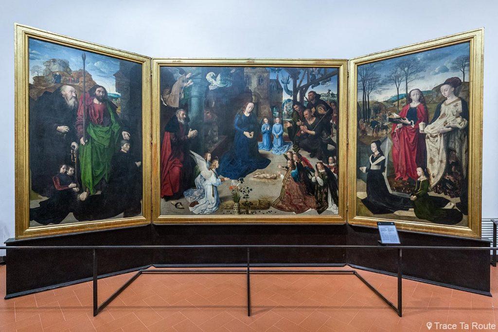L'Adoration des Mages (1476-1478) Hugo VAN DER GOES - Musée de la Galerie des Offices de Florence (Galleria degli Uffizi di Firenze)