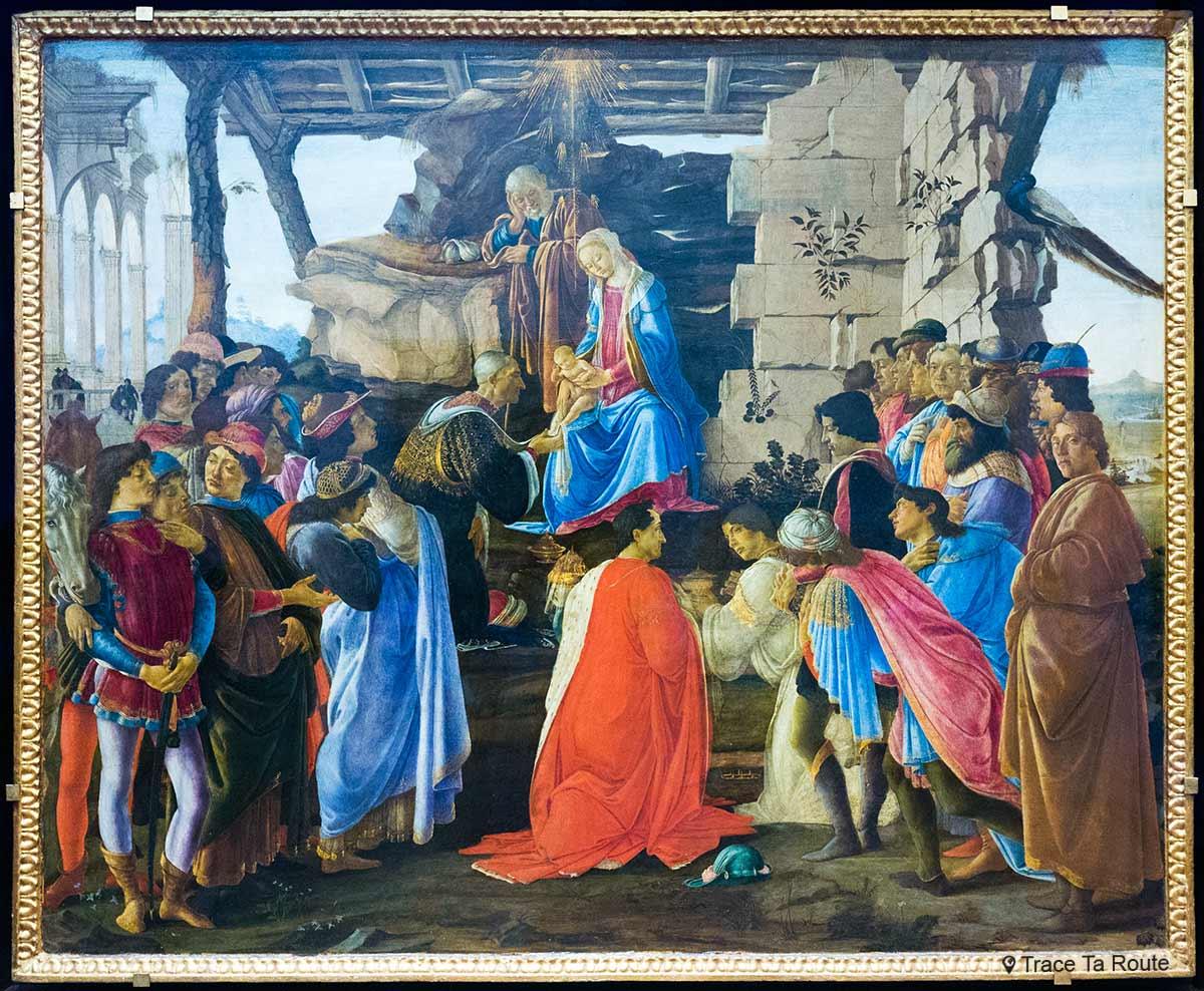 L'Adoration des Mages (vers 1475) Alessandro BOTTICELLI - Musée de la Galerie des Offices de Florence (Galleria degli Uffizi di Firenze)