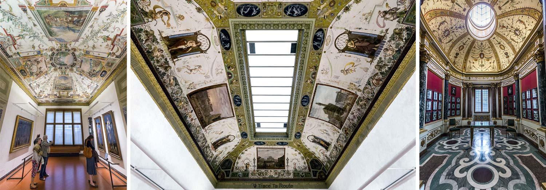 Plafonds des salles du Musée de la Galerie des Offices de Florence (Galleria degli Uffizi di Firenze)