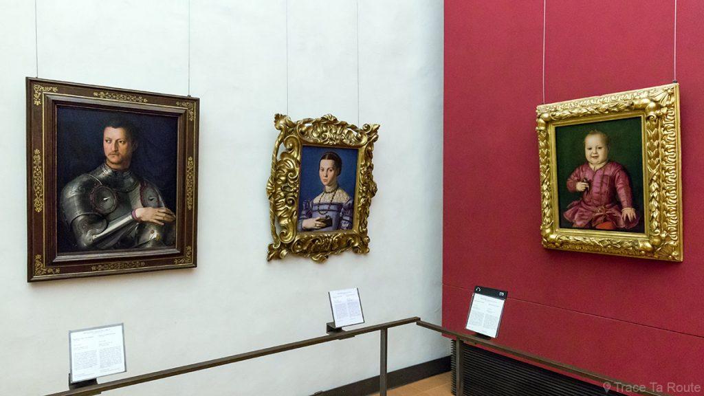Salle des Peintures de portraits de BRONZINO - Musée de la Galerie des Offices de Florence (Galleria degli Uffizi di Firenze)