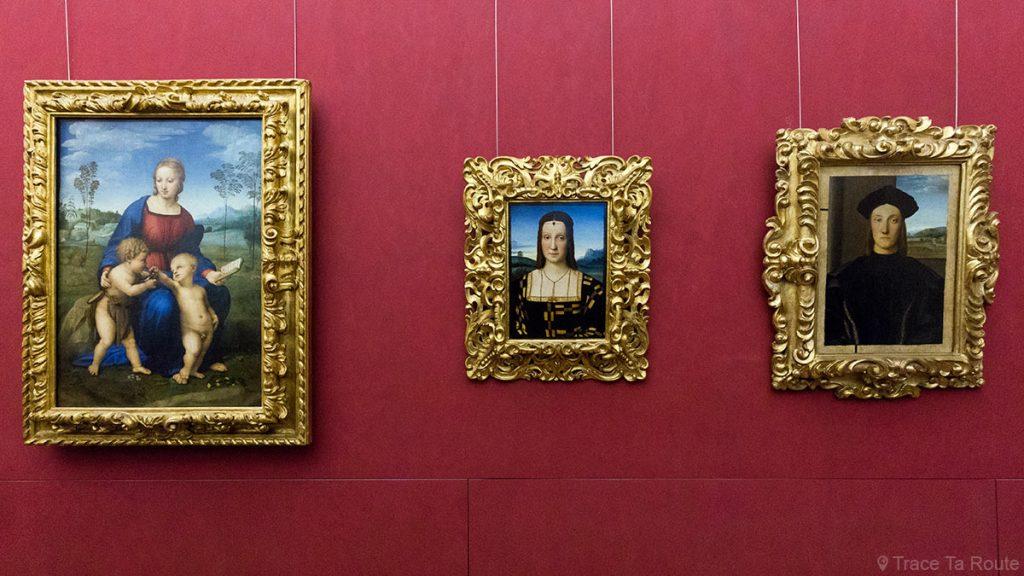 Salle des Peintures de RAPHAËL - Musée de la Galerie des Offices de Florence (Galleria degli Uffizi di Firenze)