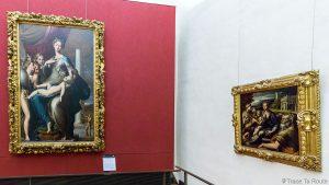 Salle des Peintures de PARMIGIANINO - Musée de la Galerie des Offices de Florence (Galleria degli Uffizi di Firenze)