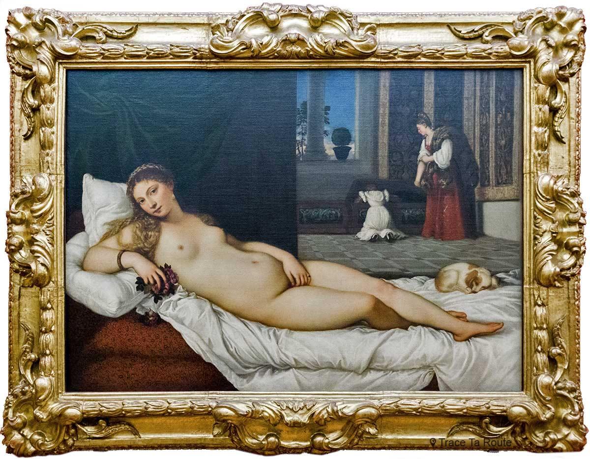 Vénus d'Urbino (1538) TITIEN - Musée de la Galerie des Offices de Florence (Galleria degli Uffizi di Firenze)