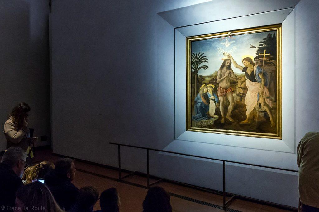 Le Baptême du Christ (1470-1476) Andrea VERROCCHIO - Musée de la Galerie des Offices de Florence (Galleria degli Uffizi di Firenze)