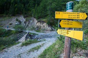 Itinéraire sentier de randonnée depuis Le Coin / Arvieux - Queyras, Hautes-Alpes