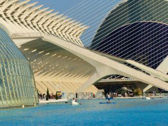 Architecture de la Cité des Arts et des Sciences de Valence, Espagne / Ciudad de la Artes e Ciencias a Valencia - Santiago Calatrava