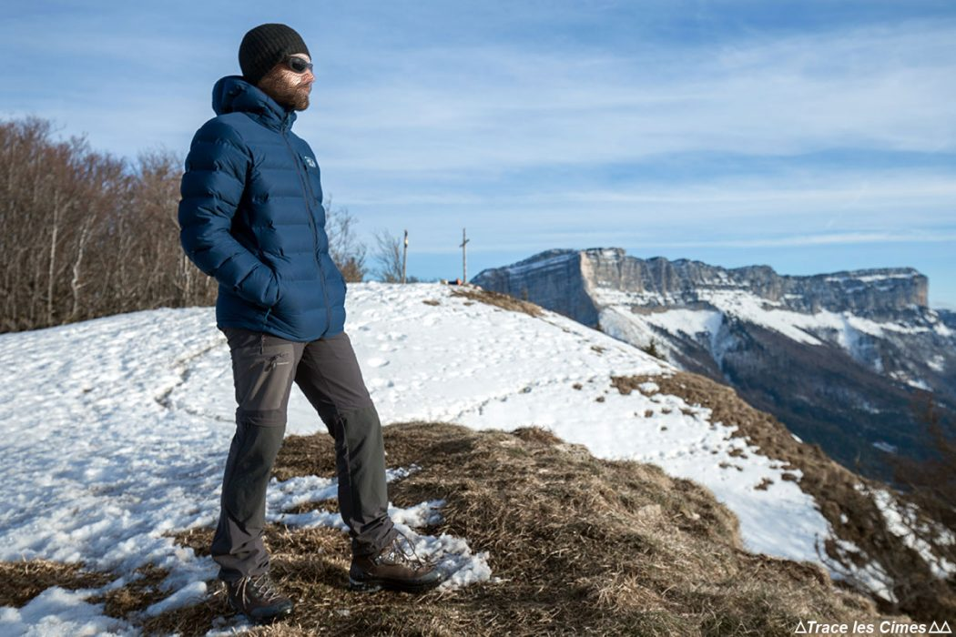 Test Doudoune Stretchdown Plus Hooded Jacket Mountain Hardwear - Mont Joigny, Massif de la Chartreuse, Savoie