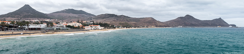 Vila Baleira sur l'Île de Porto Santo praia, Madère / Madeira Islands