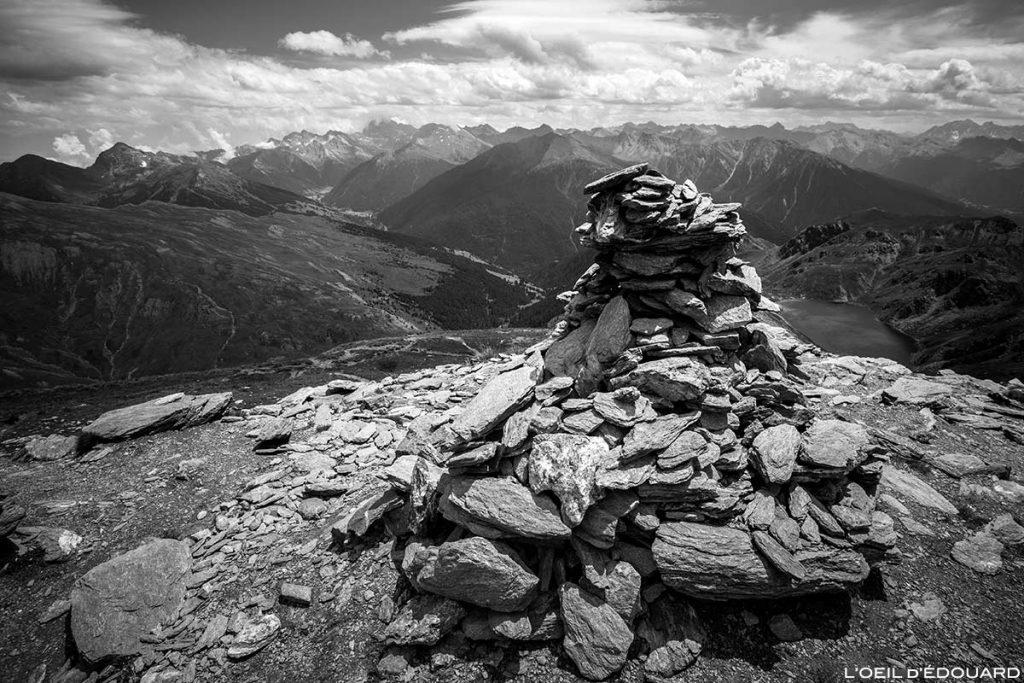 Cairn au sommet du Pic du Malrif, Queyras, Hautes-Alpes