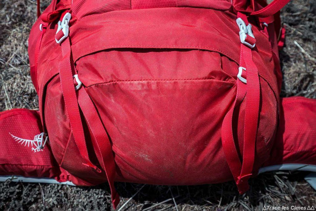 Test Sac à dos Osprey Talon 44 litres : ouverture accès inférieur bas du sac
