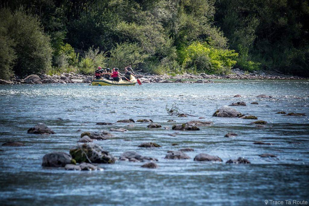 Rafting sur la rivière de la Soča, Slovénie