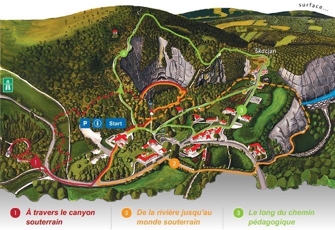Itinéraires parcours des Grottes de Škocjan en Slovénie - Škocjan caves in Slovenia © Javni zavod Park Škocjanske jame