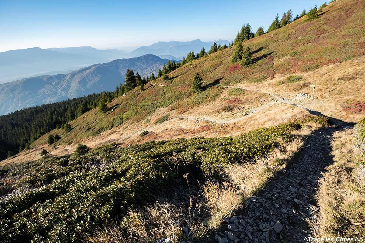 Itinéraire sentiers de randonnée à la Côte des Salières, Massif du Taillefer, Isère