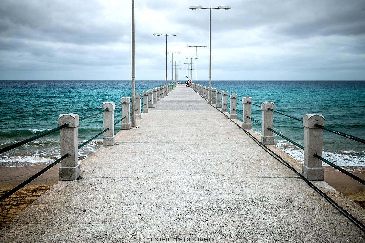 Ponton sur l'Océan Atlantique - Vila Baleira, Cais do Porto Santo, Madère / Madeira Islands