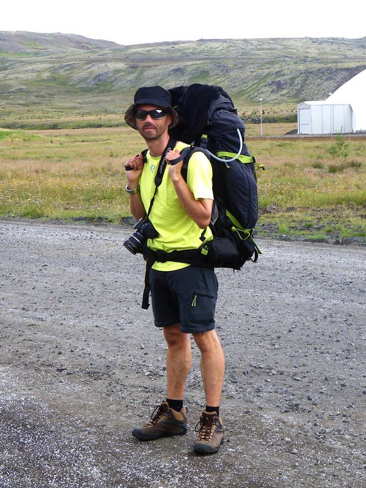 Sac à dos Quechua 70+10L à Hveragerdi en Islande