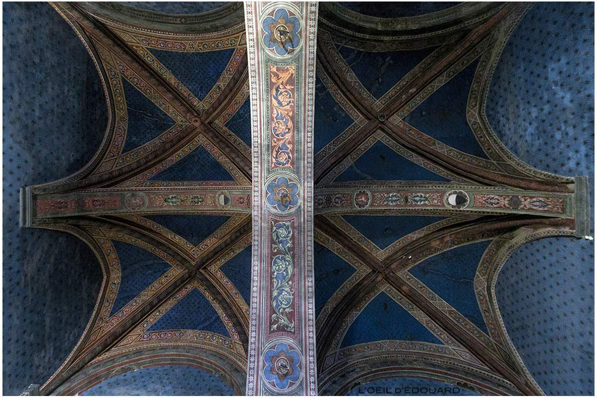 Plafond de l'Antichambre du Consistoire / Salle des Cardinaux du Museo Civico de Sienne - Anticamera del Consistoro / Sala dei Cardinali di Palazzo Pubblico di Siena
