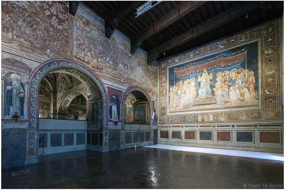 Salle de la Mappemonde du Museo Civico de Sienne - Sala del Mappamondo di Palazzo Pubblico di Siena