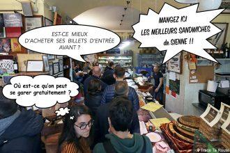 Guide Pratique Visite Sienne : se garer, acheter ses billets, manger au restaurant © Blog Voyage Trace Ta Route