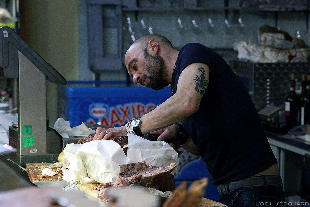Epicerie Restaurant à Sienne : Trattoria Gino Cacino di Angelo, Siena © L'Oeil d'Édouard