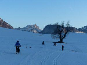 Fat bike dans les Alpes du Leman