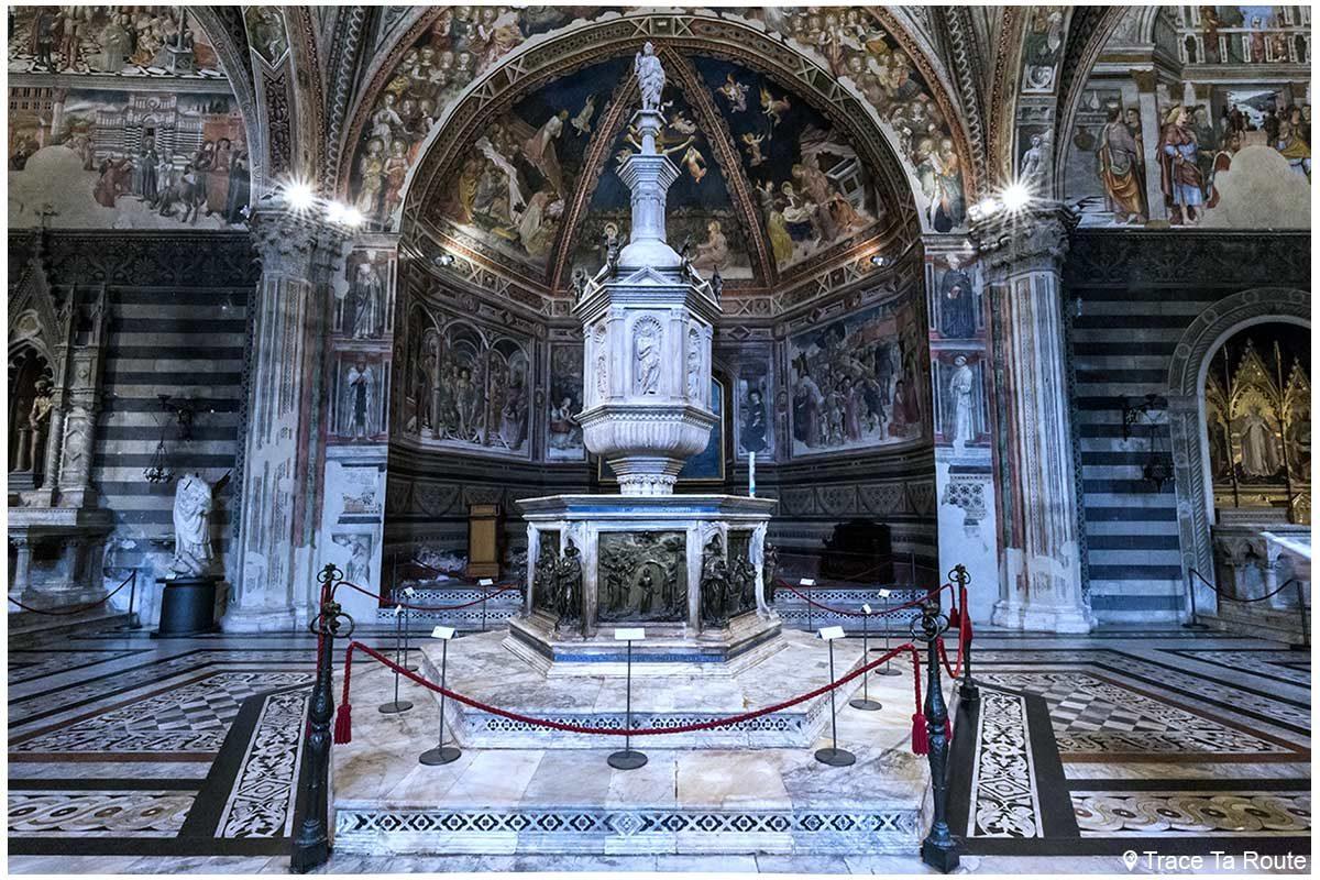 Font Baptismaux du Baptistère San Giovanni, Cathédrale de Sienne / Fonte battesimale Battistero di San Giovanni, Duomo OPA Siena