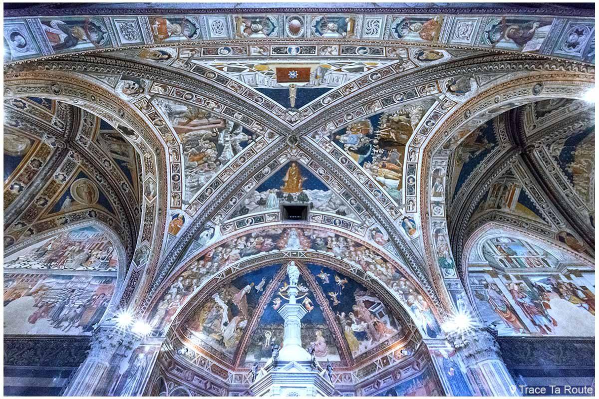 Fresques Intérieur Baptistère San Giovanni, Cathédrale de Sienne / Affreschi interno Battistero di San Giovanni, Duomo OPA Siena