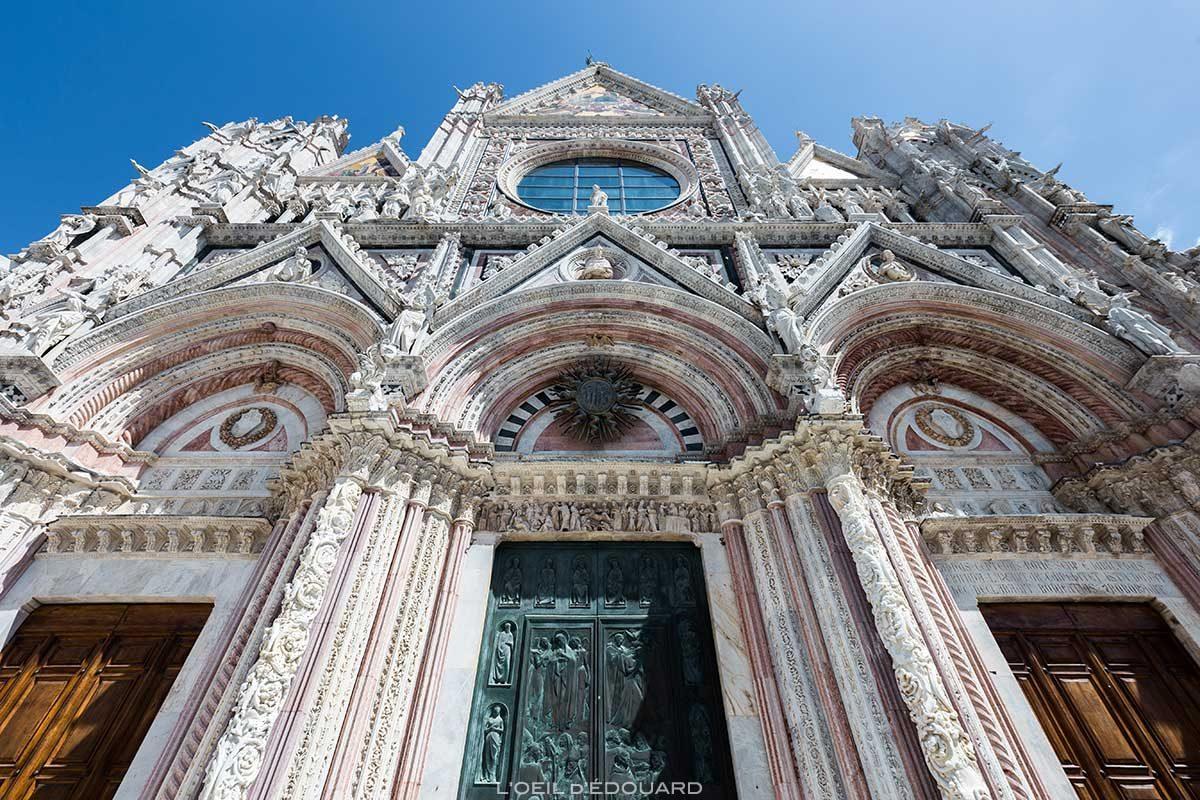 Façade de la Cathédrale de Sienne - Duomo di Siena (Santa Maria Assunta)
