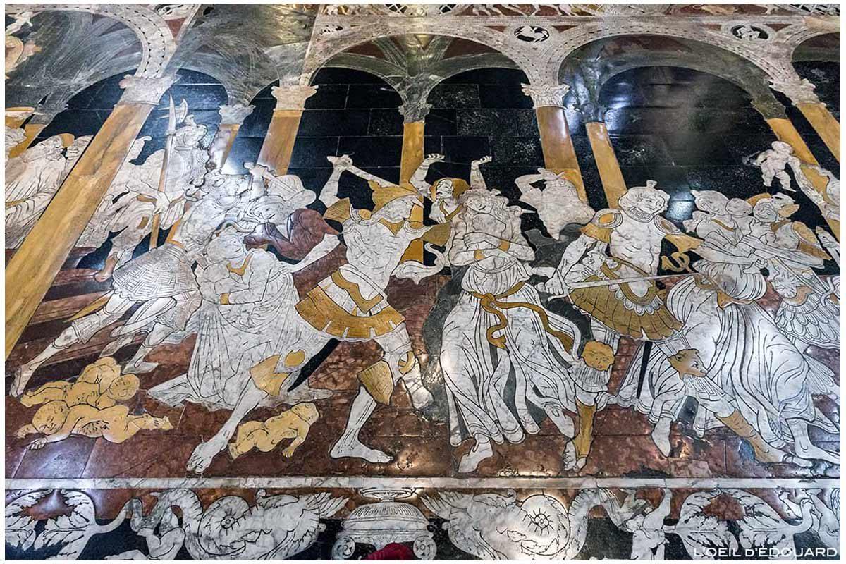 Sol pavé marbre à l'intérieur de la Cathédrale de Sienne - Pavement Duomo di Siena (Santa Maria Assunta) : Le Massacre des Innocents, Matteo di Giovanni