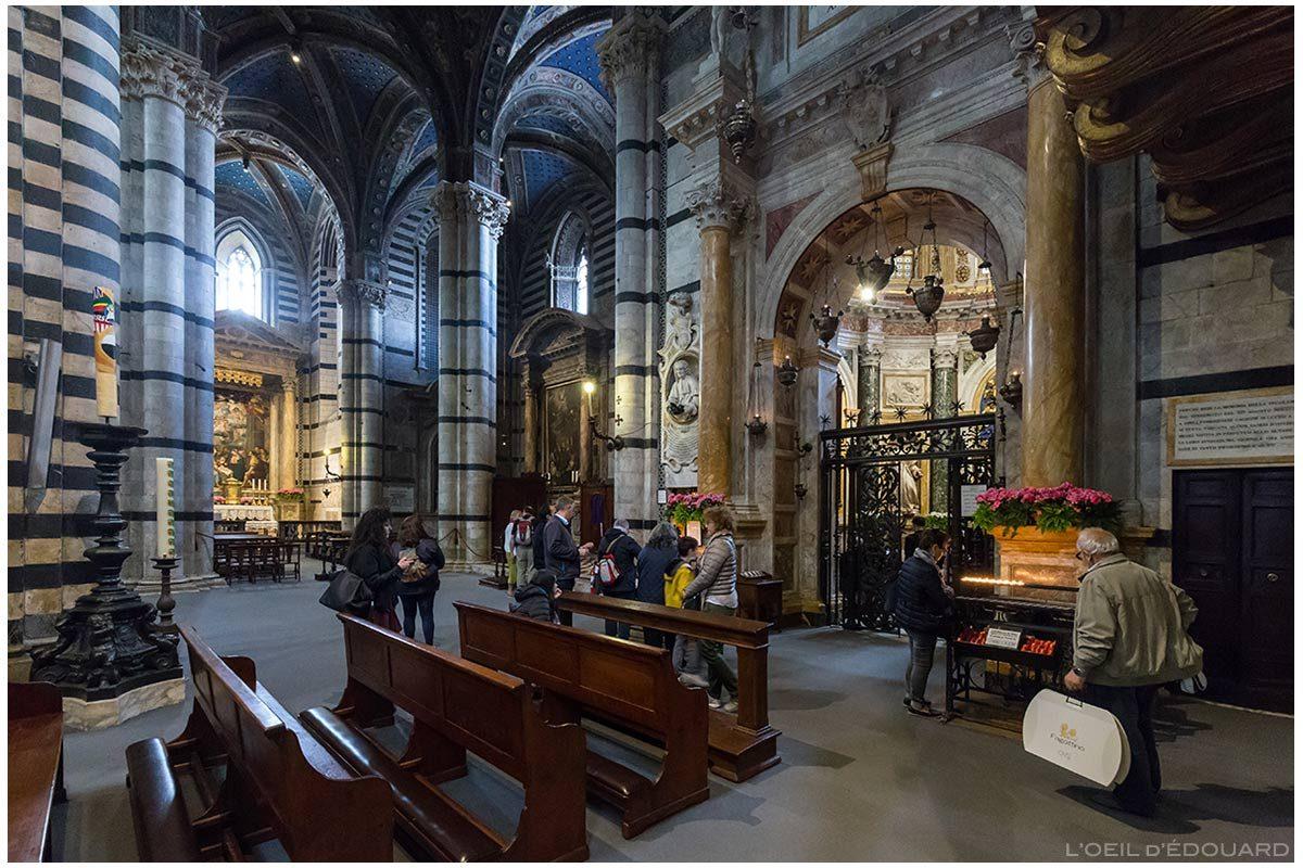 Cathédrale de Sienne - Intérieur Transept Duomo di Siena (Santa Maria Assunta) : Cappella della Madonna del Voto (Chapelle de la Vierge du Voeu) Cappella Chigi