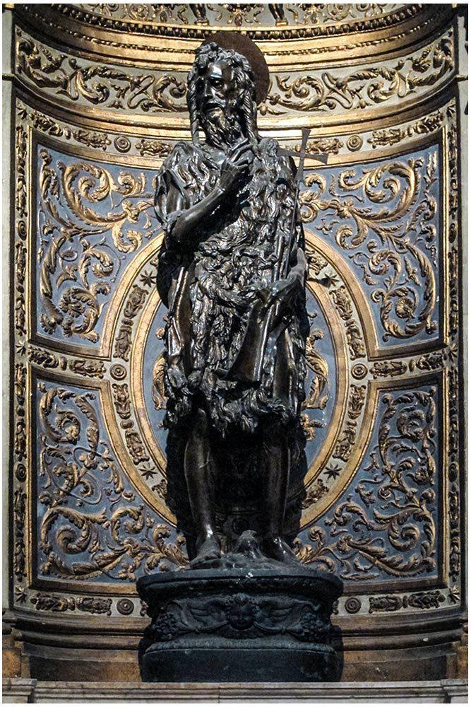Sculpture Saint Jean-Baptiste, Donatello - Chapelle Saint Jean-Baptiste Cathédrale de Sienne - Cappella San Giovanni Battista Duomo di Siena (Santa Maria Assunta) Scultura San Giovanni Battista, Donatello