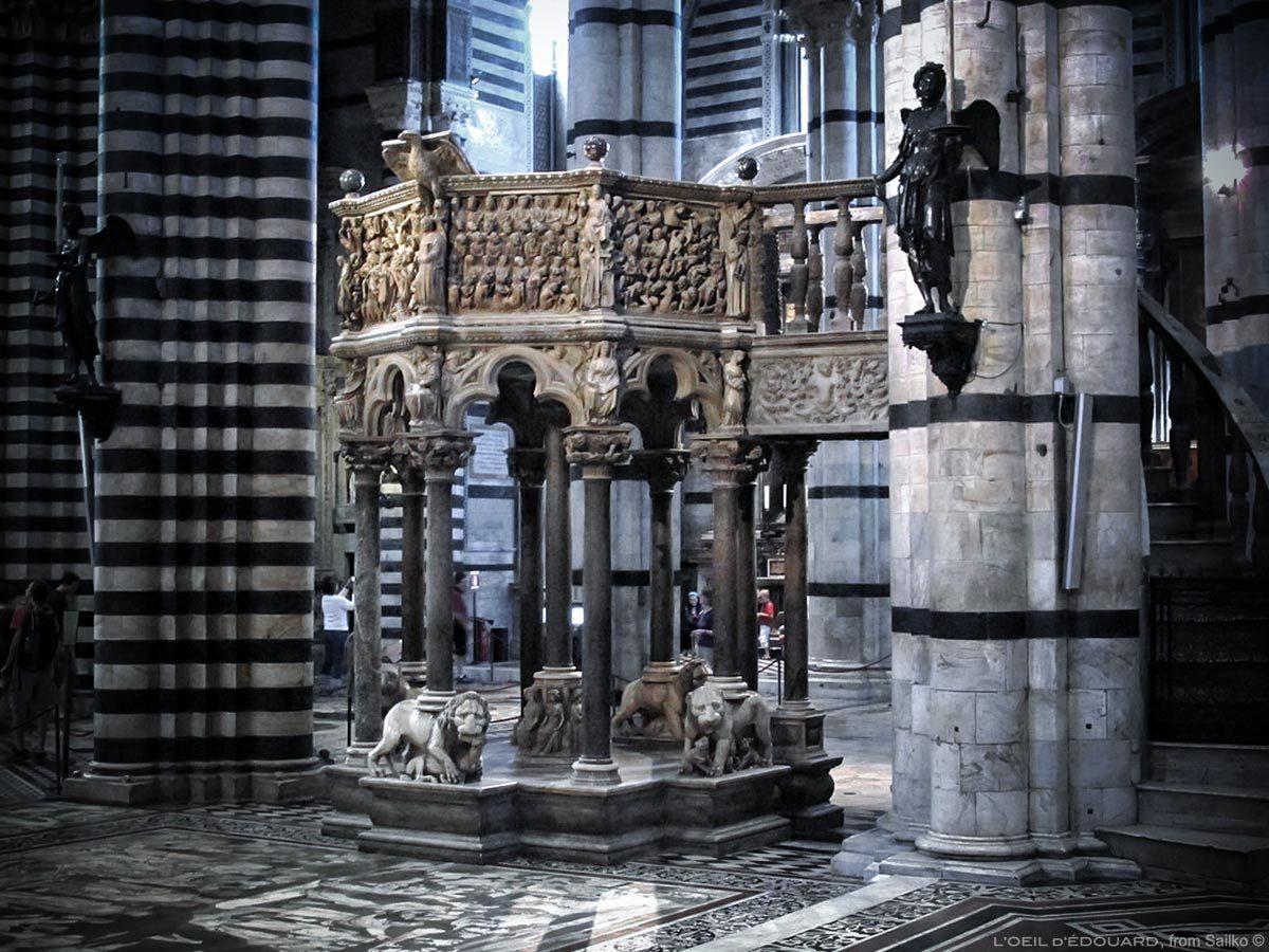 Chaire de la Cathédrale de Sienne - Pulpito di Nicola Pisano, Duomo di Siena (Santa Maria Assunta)