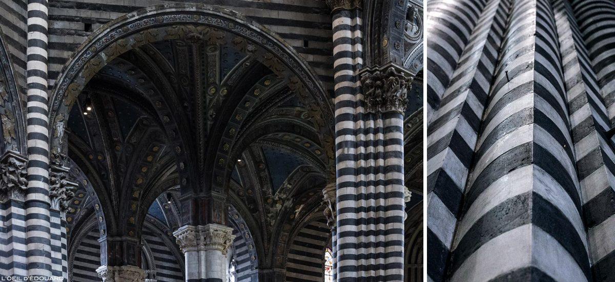 Colonnes de la Cathédrale de Sienne - Serpentine de Figline di Prato, Duomo di Siena (Santa Maria Assunta)