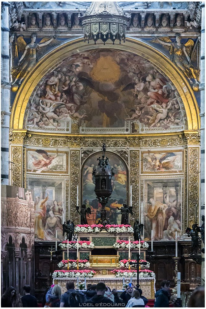 Maitre-Autel de la Cathédrale de Sienne - Altare maggiore del Duomo di Siena (Santa Maria Assunta), Baldassarre Peruzzi