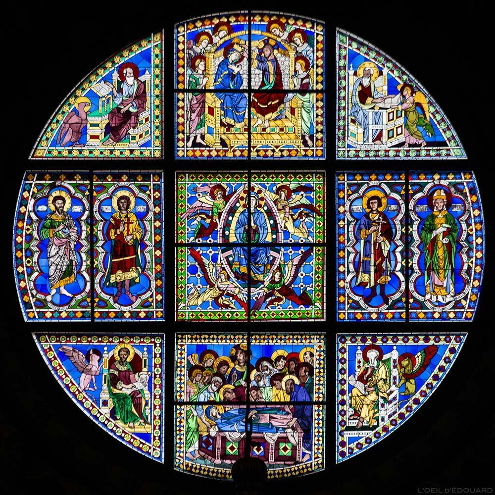 Vitrail de l'abside de la Cathédrale de Sienne - Vetrata del Duomo di Siena (Santa Maria Assunta)