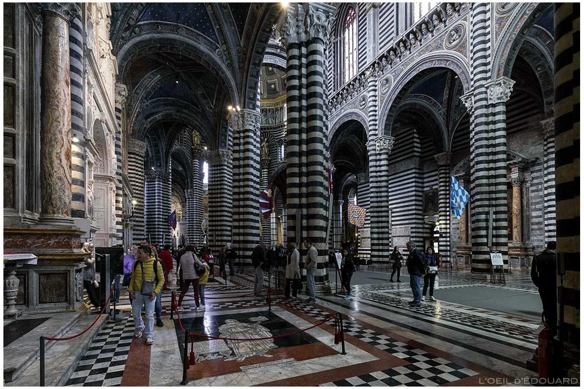 Cathédrale de Sienne - Intérieur Nef Gothique Duomo di Siena (Santa Maria Assunta)