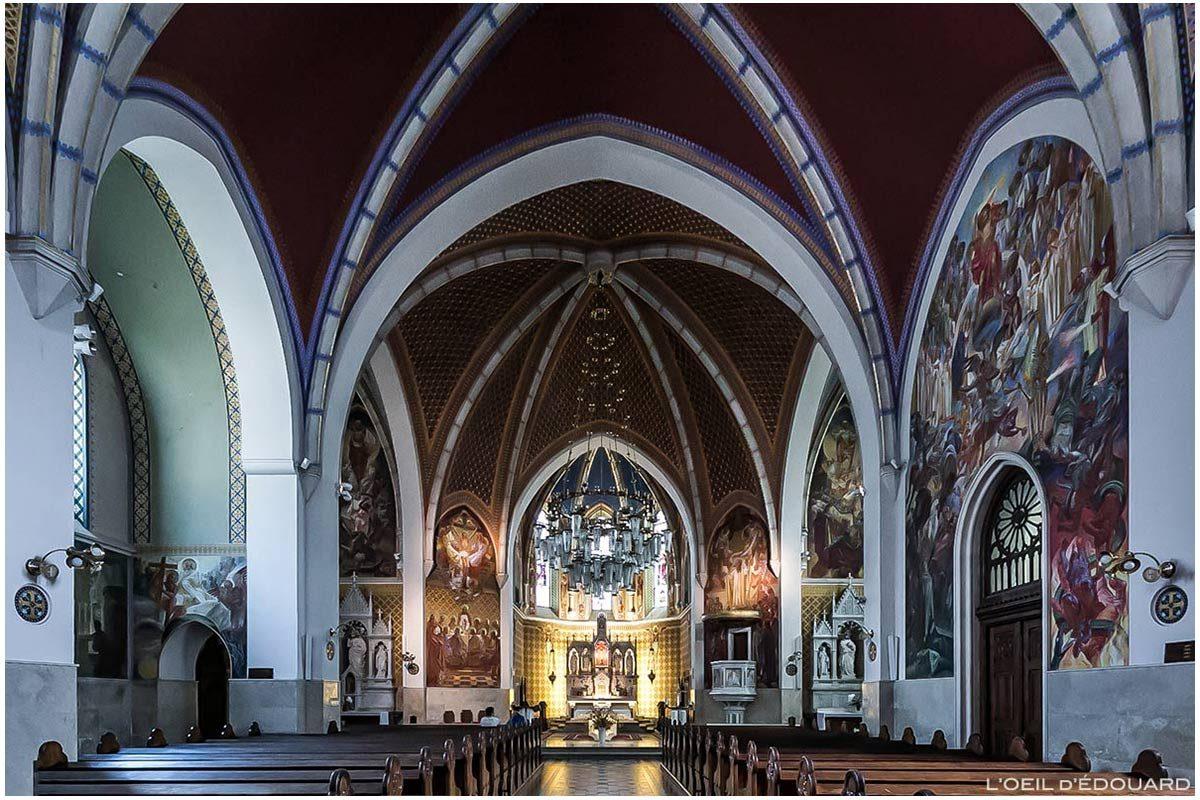 Intérieur Nef Église paroissiale Saint-Martin Župnijska cerkev sv. Martina de Bled, Slovénie (Slovenia / Slovenija)