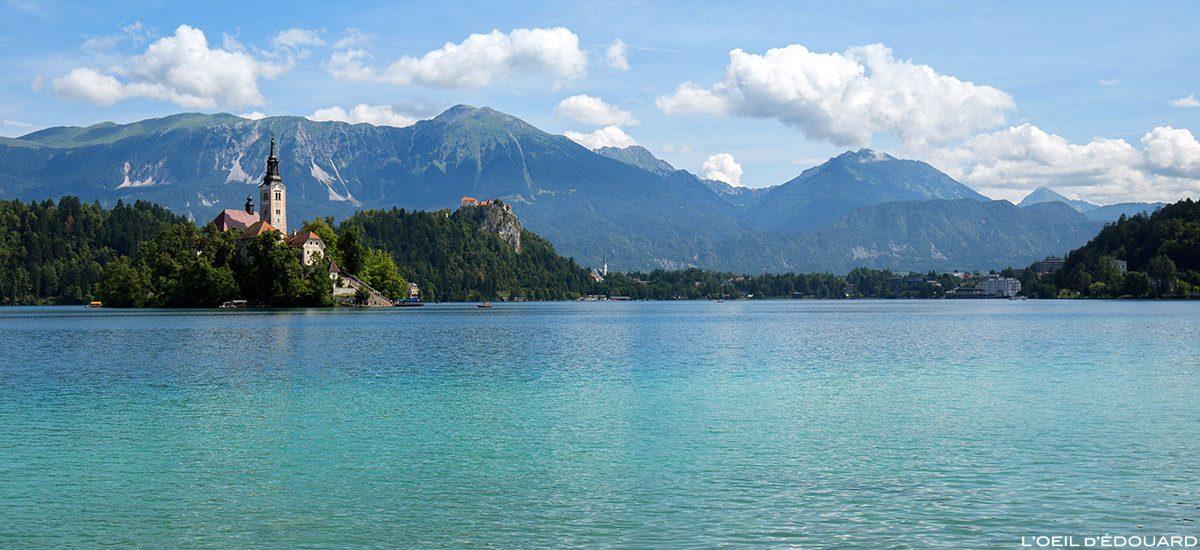 Lac de Bled - L'Île du Lac de Bled avec l'Église de l'Assomption Cerkev Marijinega Vnebovzetja, Slovénie - Blejsko jezero, Slovenia Slovenija